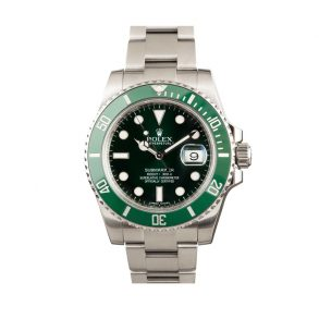 Men Green Replica Rolex Submariner Hulk 116610lv Stainless Steel