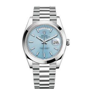 Rolex Day-Date Blue Stk Smth Men 40mm 3255 automatisch horloge